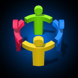 Team Work Concept vektorillustration Fotografering för Bildbyråer