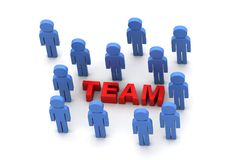Team work concept Royalty Free Stock Photo