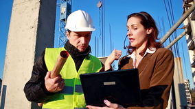 Team work on construction projects Stock Photos