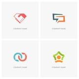 Team work and conversation logo Stock Photos