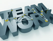 Team work 3d word concept Royalty Free Stock Photo