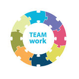 Team work. Diagram vector illustration Royalty Free Stock Photography