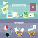 Team Work en Marketing Planconcept royalty-vrije illustratie