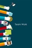 Team Work Flat Concept Vector-Illustration Stockfotos