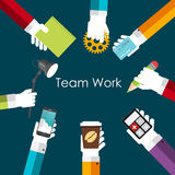 Team Work Flat Concept Vector illustration Royaltyfri Bild
