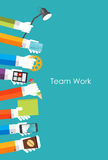 Team Work Flat Concept Vector Illustration. EPS10 Royalty Free Stock Photography