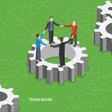 Team work flat isometric vector concept. Stock Images