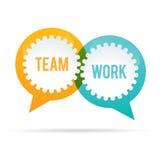 Team Work Gear Bubble Imagen de archivo libre de regalías
