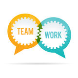 Team Work Gear Bubble. Vector illustration of team work gear bubble Royalty Free Stock Image