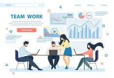 Team Work Horizontal Banner Executivos do grupo ilustração royalty free