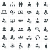 Team work icon set. Team work  icons set vector design template Stock Photo