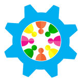 Team work. Illustration of gear with people on team work concept Stock Images