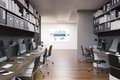 Team work inspiring office interior