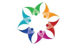 Team Work Logo - affare circolare arrotondato Team United Logo della mascherina di Team Work Union People Logo illustrazione vettoriale