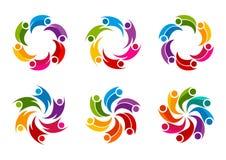 Team Work Logo Design. Abstract circular Team Work vector  Logo Design Stock Photography