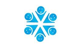 Team Work Logo - gerundetes Team Work Union People Logo-Schablonen-Kreisgeschäft Team United Logo vektor abbildung