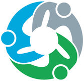 Team work logo. Vector illustration of team work logo Royalty Free Stock Image