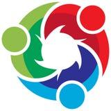 Team work logo. Vector illustration of team work logo Stock Photo