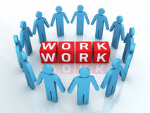 Team work Management Stock Photo