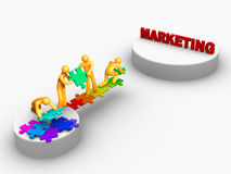 Team work for Marketing Royalty Free Stock Photo