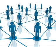 Team work network. 3d illustration of a team work in network Royalty Free Stock Photo