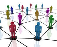 Team Work Network Royalty Free Stock Images