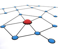 Team work network Stock Image