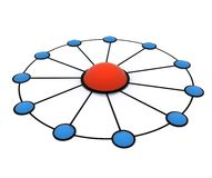 Team work network Stock Photography