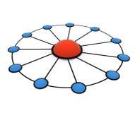 Team work network Stock Photography