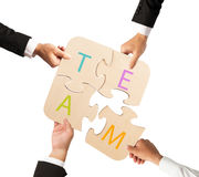 Team work for one goal Royalty Free Stock Image