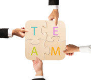 Team work for one goal Royalty Free Stock Photo