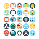 Team Work and Organization Vector Icons 4 Stock Photography