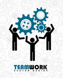 Team work. Over gears background vector illustration Stock Photos