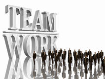 Team Work over white. Royalty Free Stock Image