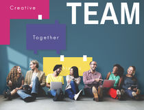 Team Work Peopel Together Concept stock photos