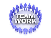 Team work. People circle. Stock Photography