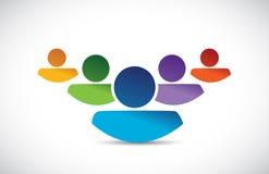 Team work people illustration design Stock Photos