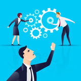 Team work personnel Management . business concept. Vector illustration Royalty Free Stock Images