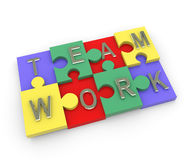 Team work puzzle Royalty Free Stock Photos