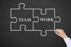 Team Work Puzzle stock photography