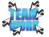 Team work sign and mouse cursors Stock Images