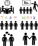 Team work. Silhouette Illustration of Team work. Can be used in business presentations and other artworks. Visit: https://graphixandcode.com vector illustration
