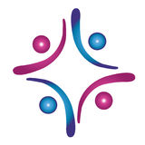 Team work social logo Stock Photos