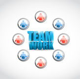Team work. social network illustration design Royalty Free Stock Photos