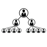 Team work structure icon illustration Stock Photography