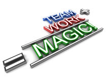 Team work. And success concept, team and work turning into magic Stock Photo