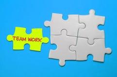 Team Work Text - concepto de la dirección Imagen de archivo libre de regalías