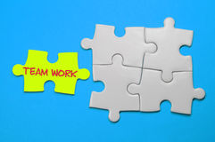 Team Work Text - Leadership Concept Royalty Free Stock Image