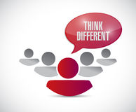 Team work with think different message. Royalty Free Stock Photography