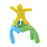 Team work three colorful Royalty Free Stock Images